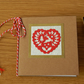 Scandi Heart Christmas Notebook with die cut Heart decor