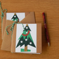 Christmas Tree Notebook with paper pieced Christmas Tree. Stocking Filler.