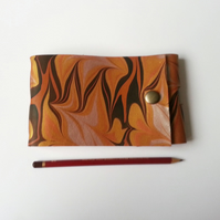 Marbled Leather A6 Sketchbook. Watercolour paper. Gifts for Artists