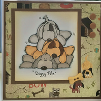 Dog Birthday Card - Blank Inside