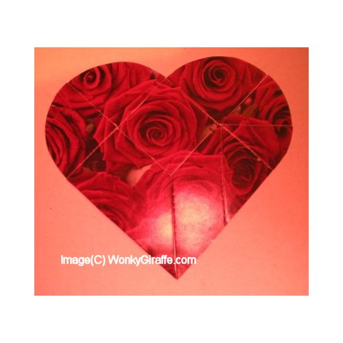 Valentine Puzzle card to make Emailed PDF