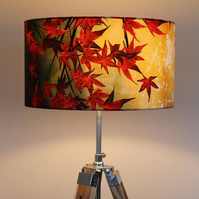 Japanese Maple Drum Lampshade by Lily Greenwood (45cm Diameter)