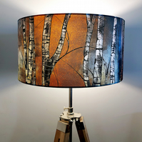 Silver Birch Drum Lampshade by Lily Greenwood (45cm Diameter)