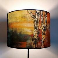 Silver Birch Drum Lampshade by Lily Greenwood (30cm diameter)