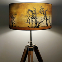 Hawthorns Drum Lampshade by Lily Greenwood (45cm Diameter)