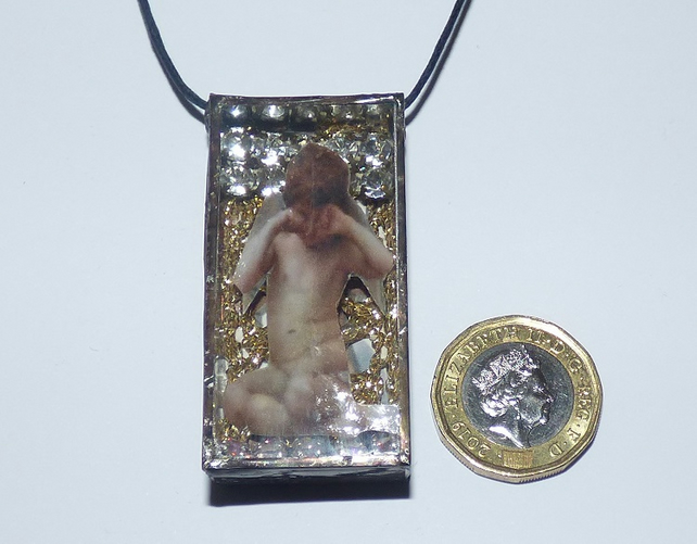 Angel Necklace shadow box Angel pendant