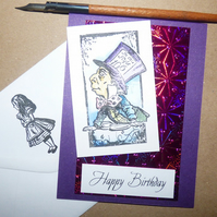 Mad Hatter birthday card