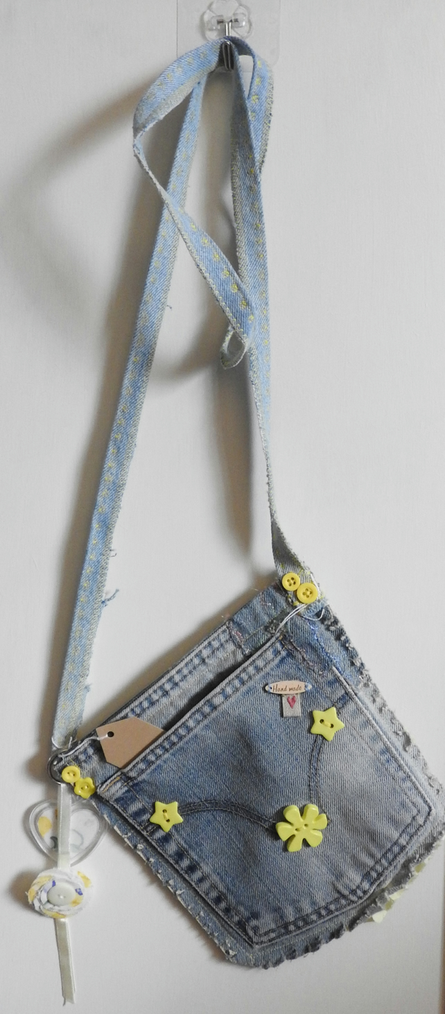 Jeans Pocket Bag in Stonewashed Denim