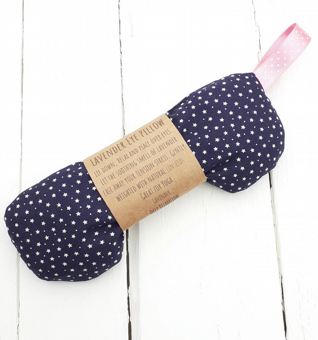 Lavender & Linseed Eye Pillow Eye Mask For Yoga Meditation Relaxation Sleep Aid