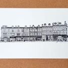 New Briggate - Drawing - Leeds Poster