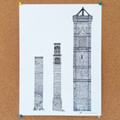 Tower Works - all three - Drawing - Leeds Poster