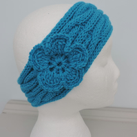 SALE now 5.00   Headband, Ski Band, Ear Warmers in Turquoise