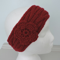 Headband, Ski Band, Ear Warmers in Red