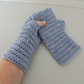 Sale now 5.00  Fingerless Mitts  Pale Blue  100% Acrylic