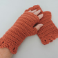 Fingerless Mitts with Dragon Scale Cuffs Paprika