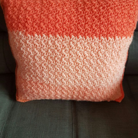 Shades of orange and pink scatter cushion