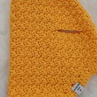 Saffron yellow dog sweater, jumper for small dog or puppy