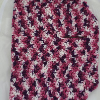Pinks, purples and white dog sweater, jumper for small dog or puppy
