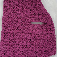 Dark pink sparkly dog sweater, jumper for small dog or puppy