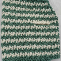 Slate green and cream dogstooth dog sweater, jumper for small dog or puppy