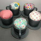 Tea Cup Pin Cushion (Available with thimble & pins)