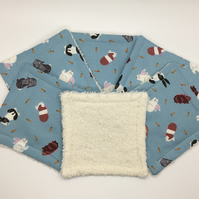 Re useable cotton make up wipes Rabbit and guinea pig design