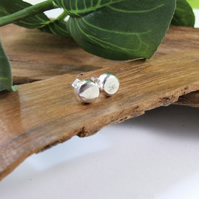Sterling Silver Stud Earrings, Recycled Silver 6mm Round Earrings