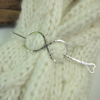 Shawl Pin, Sterling Silver Infinity Knot Celtic Clasp