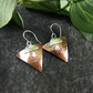 Earrings, Sterling Silver and Copper Triangle Earrings