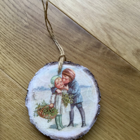 Christmas Children Vintage Style Tree Decoration