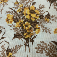 Vintage retro floral curtain fabric