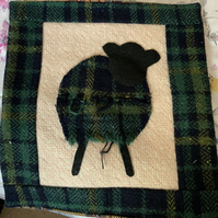 Handmade Scottish tweed cushion cover