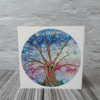 Candy Tree of Life Card, Birthday Card, Thank You Card, Art Card, Card for Dad
