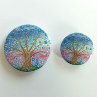 Candy Tree of Life Pin Button Badge, 25mm or 38mm