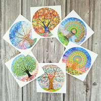 Tree of Life Art Greetings Cards, Pack of 6