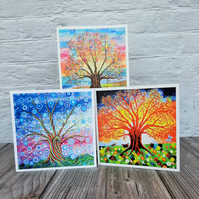 Pack of 3 Tree of Life Art Greetings Cards