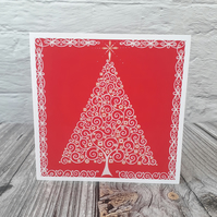 Christmas Cards, Tree blank fine art greeting cards for women or men