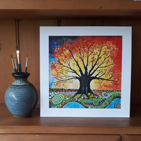 Tree of Life Art Print, Framed Wall Art, Birthday Gift, Christmas Gift, Wedding