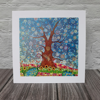 Tree of Life and Dragonfly Art Print, Birthday Gift, Mothers day gifts