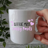 Personalised Sassy pants Mug, ceramic mugs, coffee mugs, gifts for women, girls