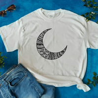Moon Mandala t-shirt, men's t-shirt, women's t-shirt, statement t-shirts, tops
