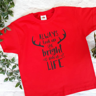 Children's t-shirt, 5-6yrs, children's clothes, Always look on the bright side