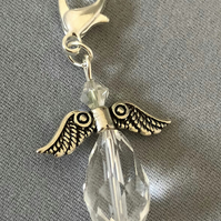 April Birthday Angel Charm