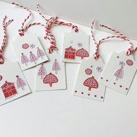 Handmade Christmas Gift Tags pack of Six Scandi Style