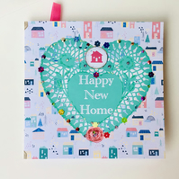 New Home Greeting Card,Blank Insert for Own Message, Can Be Personalised