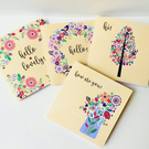 Set of Four Notecards, Blank Notecards, Just to Say, thank you