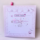 New Baby Card In Pinks, Greeting Card New Baby,Can Be Personalised