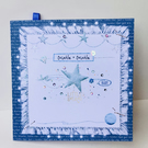 New Baby Card In Blues,Greeting Card New Baby,Can Be Personalised