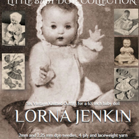 Knitting pattern baby doll 6 inch from Fifties British collection