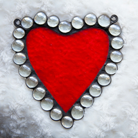 Red Love Heart Stained Glass Suncatcher